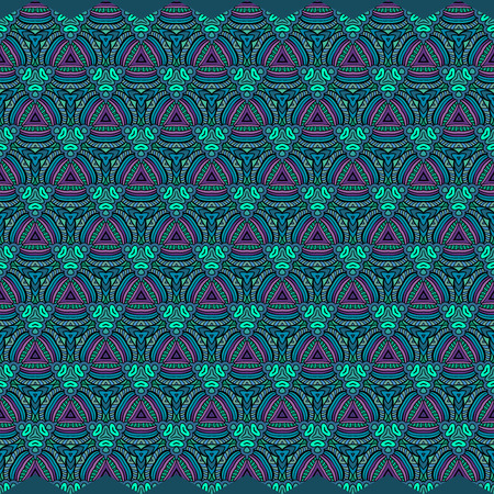 Abstract vector floral ethnic background seamless pattern