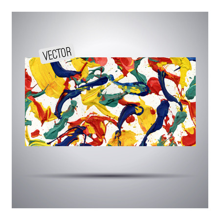 daub: abstract vector hand drawn watercolor banner background