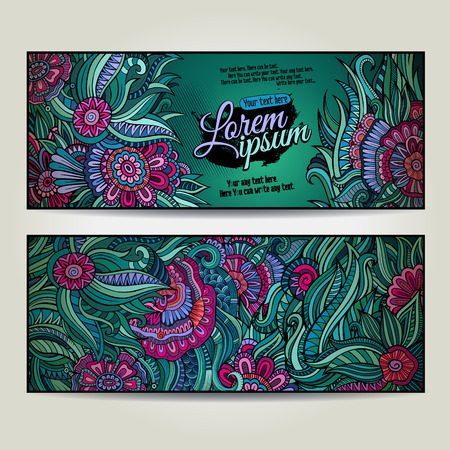 fayer: Abstract vector decorative floral backgrounds. Series of image Template frame design for card.