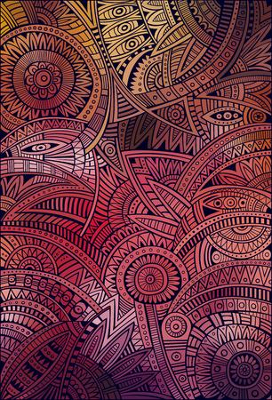 抽象的な装飾的なベクトル部族民族的背景パターン  イラスト・ベクター素材