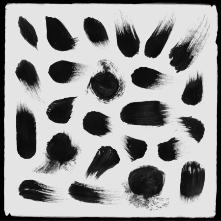 Vector hand drawn paint stains grunge set Vector