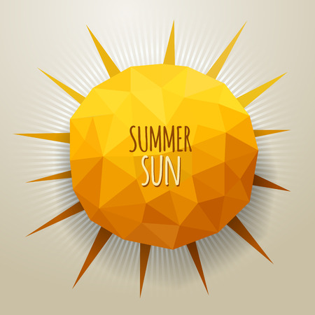 Vector abstract geometric triangle summer sun illustration Vector