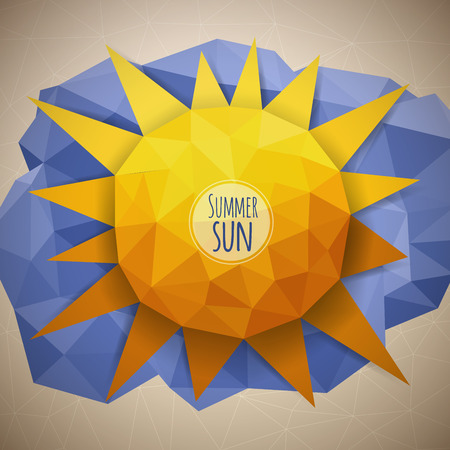Vector abstract geometric triangle summer sun illustration Vector