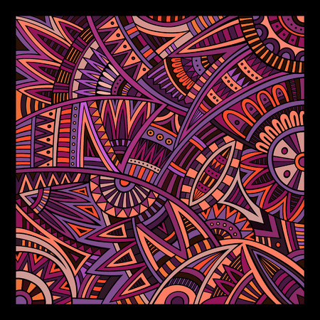 african culture: Abstract decorative vector tribal ethnic background pattern