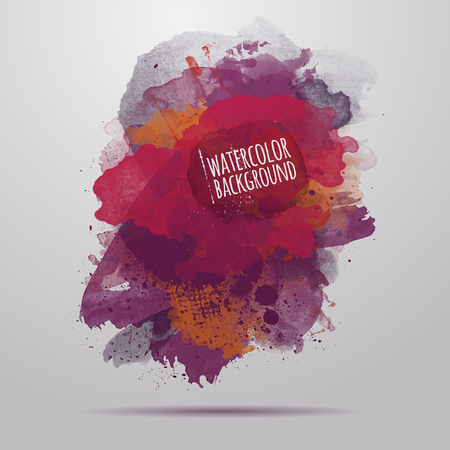 hand painted: Vector abstract art hand painted watercolor background Illustration