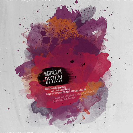 Vector abstract art hand painted watercolor background Illustration