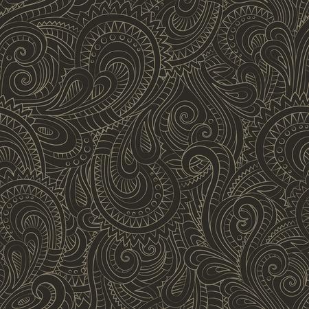 duo tone: Vintage decorative floral ornamental seamless pattern