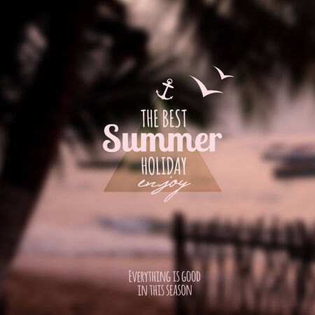 Creative graphic message for your summer design Иллюстрация