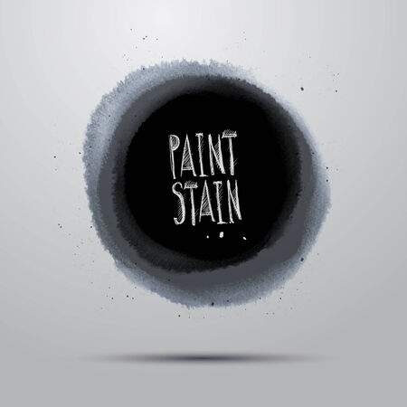 daub: Vector round watercolor grunge paint abstract background Illustration