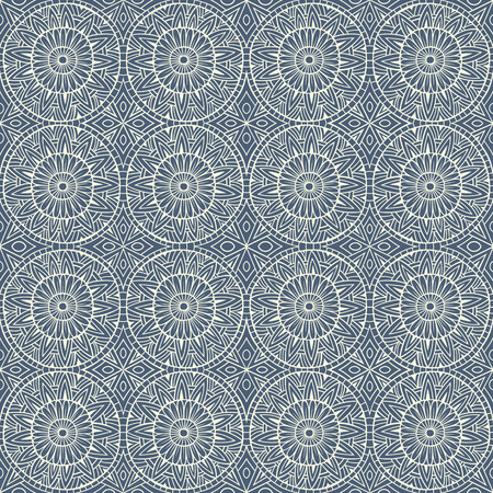 ethnic modern hand drawn ornamental seamless pattern Vector