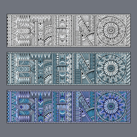 ethno: Abstract concept ethno with geometric aztec pattern