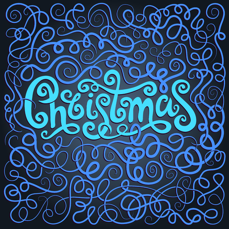 neon lights: Christmas Greeting Card