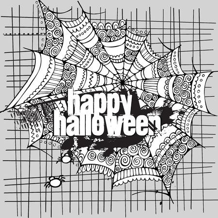 gossamer: Abstract vector Halloween grunge design card