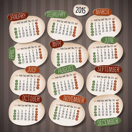 Calendar 2015 design Vector