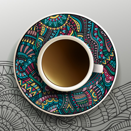 illustration with a Cup of coffee