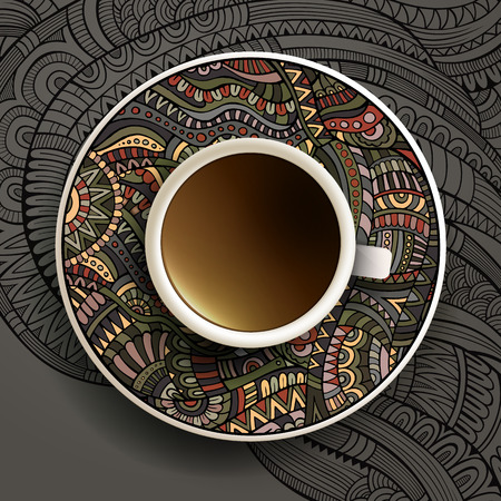 Vector illustration with a Cup of coffee Vector