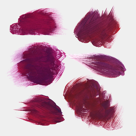 hand drawn paint stains Vector