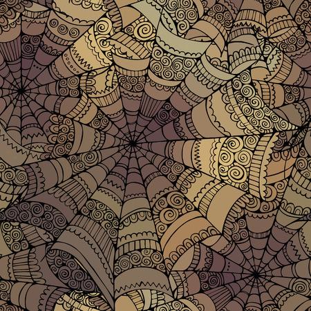 装飾的なスパイダー web パターン ベクトル