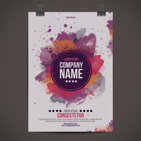 ベクトル テンプレート ポスター  イラスト・ベクター素材