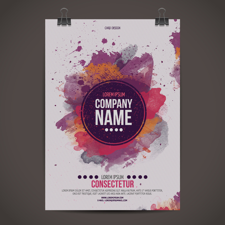 poster business: Vector template poster