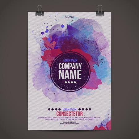 playbill: Vector template poster