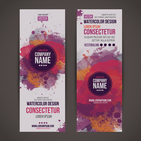 Vector template banners