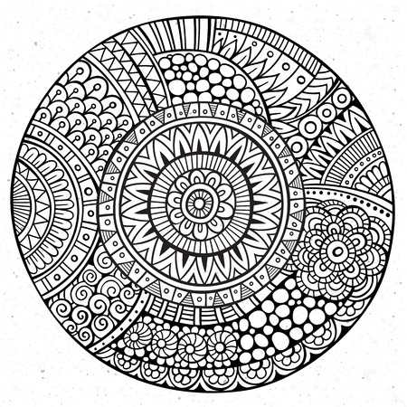 Vector decorative hand drawn circle