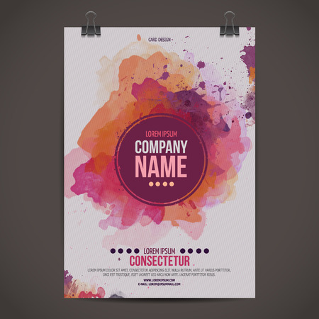 advertise: Vector watercolor poster