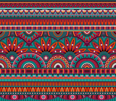 vitrage: tribal ethnic background seamless pattern