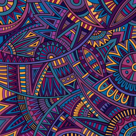 抽象的なベクトル部族民族的背景パターン  イラスト・ベクター素材