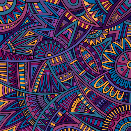 Abstract vector tribal ethnic background pattern Vector