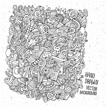 pencil cartoon: hand drawn food sketch background