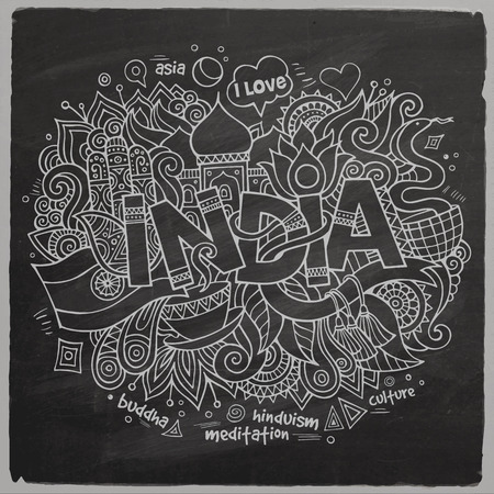 India chalk board background