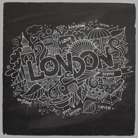London chalk board background Vector