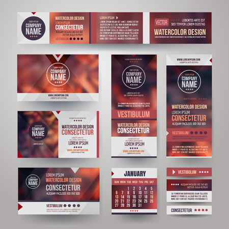 photography: Vector Corporate identity templates