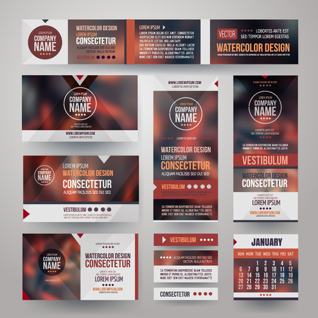 Vector Corporate identity templates Vector