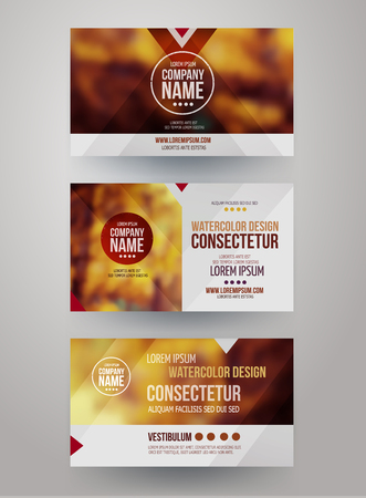 name card: business cards with blurred abstract background