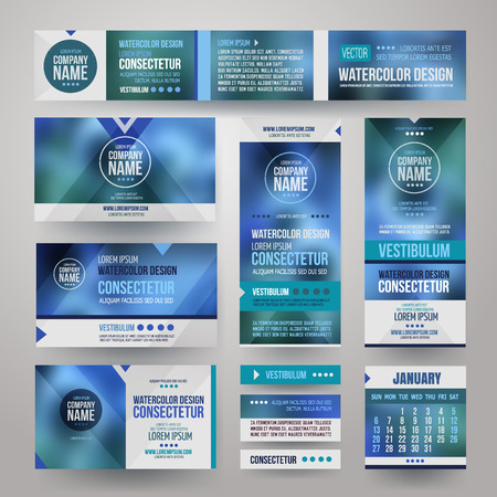 app banner: Vector Corporate identity templates