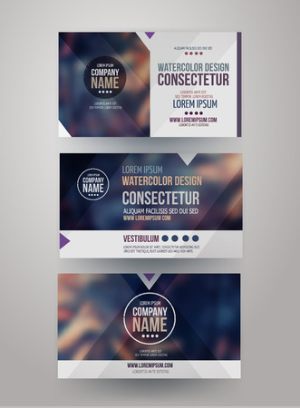headers: identity templates with blurred abstract background