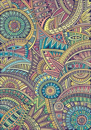 Abstracte decoratieve vector tribale etnische achtergrond patroon Stock Illustratie