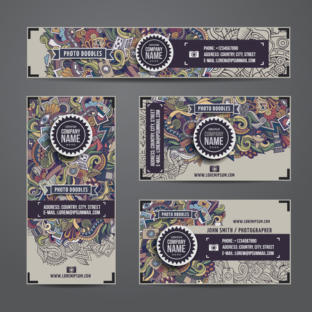 doodle art: Corporate Identity templates set with doodles photo theme