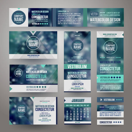 website header: Vector Corporate identity templates