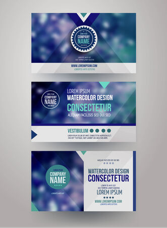 photography logo: identity templates with blurred abstract background