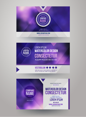 business cards: identity templates with blurred abstract background