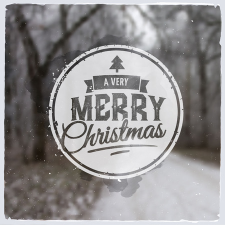 text background: Merry Christmas creative graphic message for winter design Illustration