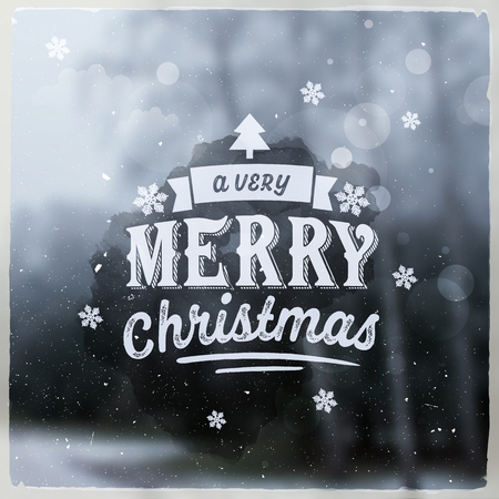 Merry Christmas creative graphic message for winter design Ilustração