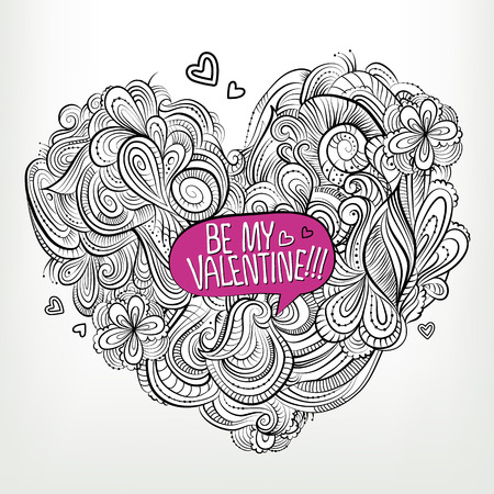 Be my Valentine. Drawing vector Greeting card Vector
