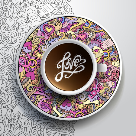 coffee cup vector: Vector illustration with a Cup of coffee