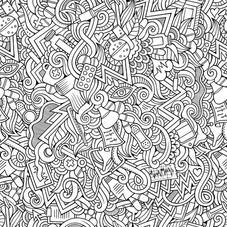 Seamless abstract pattern medical and health background Vector