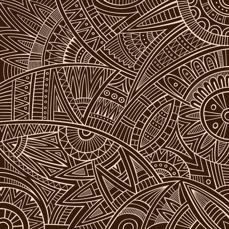 cultura maya: Vector Resumen deco vintage tribal origen étnico